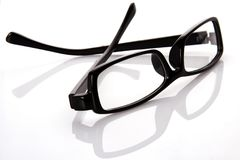 Black Frame Eyeglasses Royalty Free Stock Photography