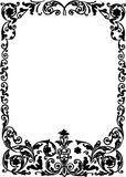 Black frame with floral curls Royalty Free Stock Photo