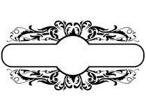 Black frame with floral decoration, vector illustration royalty free illustration