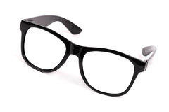 Black frame glasses Royalty Free Stock Images