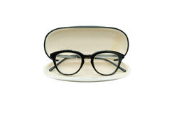 Black frame glasses in box Royalty Free Stock Photography