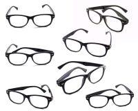 Black frame glasses isolated Royalty Free Stock Photo