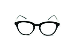 Black frame glasses Stock Photos