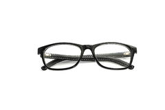 Glasses. Black frame glasses on white background Royalty Free Stock Image