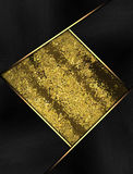 Black frame with gold plate. Template for design. copy space for ad brochure or announcement invitation, abstract background. Royalty Free Stock Images