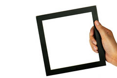 Black frame in hand Royalty Free Stock Photography