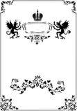 Black frame with heraldic elements Stock Image