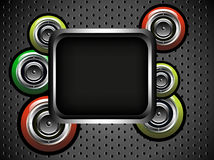 Black frame with loudspeakers Stock Photography
