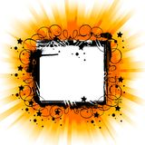 Black frame on shining background Royalty Free Stock Images