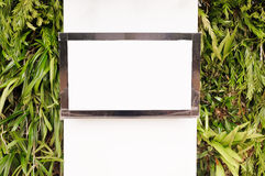 Black frame television Stock Photography