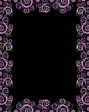 Black frame with twirls. Black and pink frame with design twirls on it Stock Image