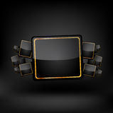 Black frame. Vector Stock Images