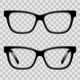 Black Framed Glasses Stock Images