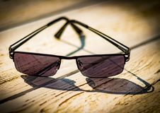 Black Framed Sunglasses Royalty Free Stock Photos