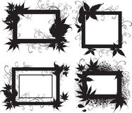 Black frames with Autumn Leafs. Thanksgiving Stock Photos