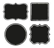 Black frames Stock Photos