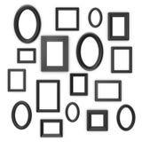 Black frames Stock Images