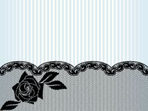 Black French lace background Stock Images