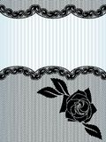 Black French lace background Royalty Free Stock Images