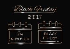 Black Friday 2017 Fotos de archivo libres de regalías