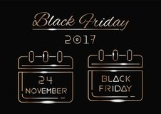 Black Friday 2017 royaltyfri illustrationer