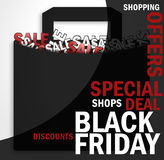 Black friday. Special sale shop and more fonts Royalty Free Stock Photo