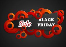 Black friday abstract background Royalty Free Stock Photography