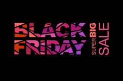 Black friday advertisement Royalty Free Stock Image