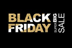 Black friday advertisement Stock Images