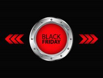 Black Friday advertising banner design Royalty Free Stock Images