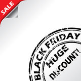 Black friday advertising with grunge seal Royalty Free Stock Photography