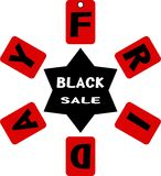 Black Friday. Advertising  illustrated Black Friday for November Royalty Free Stock Photos