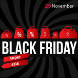 Black Friday-affichevector Royalty-vrije Stock Afbeeldingen