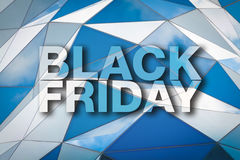 Black Friday affisch Royaltyfria Bilder