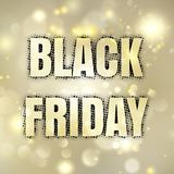 Black Friday affisch Vektor för EPS 10 Arkivfoto