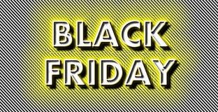 Black Friday al neon sulle strisce Fotografia Stock Libera da Diritti