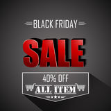 Black friday All Item Royalty Free Stock Photography