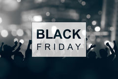 Black Friday announcement. With abstract background Stock Photos