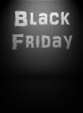 Black friday announcement Stock Images