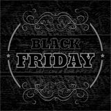 Black friday announcement on  wooden background eps 10 vec Stock Photo