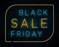 Black Friday au néon illustration de vecteur