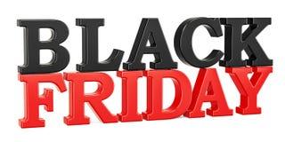 Black Friday-Aufschrift, Wiedergabe 3D Stockbilder