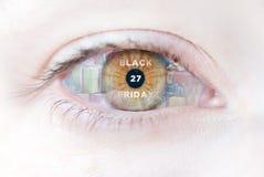 Black Friday-Augen Lizenzfreie Stockbilder