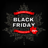 Black Friday Autumn Sale, Fall discount poster, advertising banner template Stock Photo