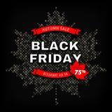 Black Friday Autumn Sale, manifesto di sconto dell'autunno, annunciante il modello dell'insegna Fotografia Stock