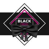 Black Friday avec le ruban noir illustration stock