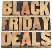 Black Friday avtal Arkivbild