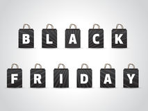 Black friday background with black shopping bags Stock Image