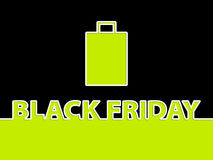 Black friday background with shopping bag Stock Image