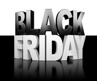 Black Friday background. Black Friday on black and white background Royalty Free Stock Photo